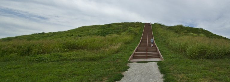 Cahokia Mounds State Historic Site in Illinois lies just outside of St. Louis