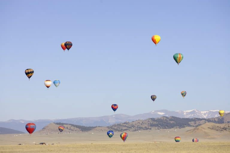Hot air balloons give families the chance to see the state's fourteeners