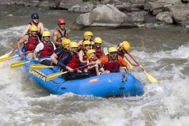 whitewater rafting is a must do when visiting Colorado