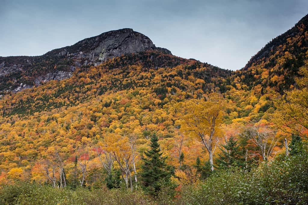 new England Fall Foliage road trip in the White Mountains