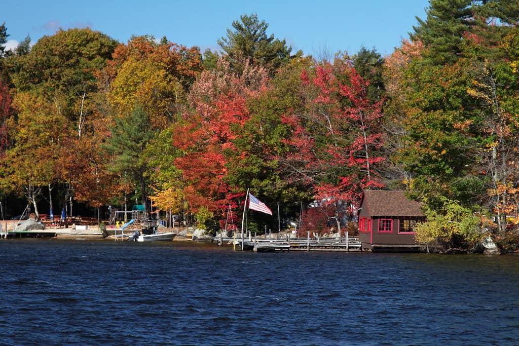 Lake Winnipesaukee fall photo