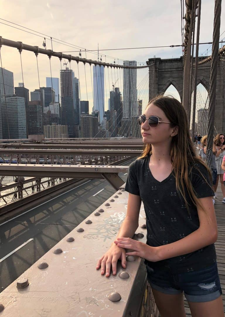 Brooklyn Bridge with teens