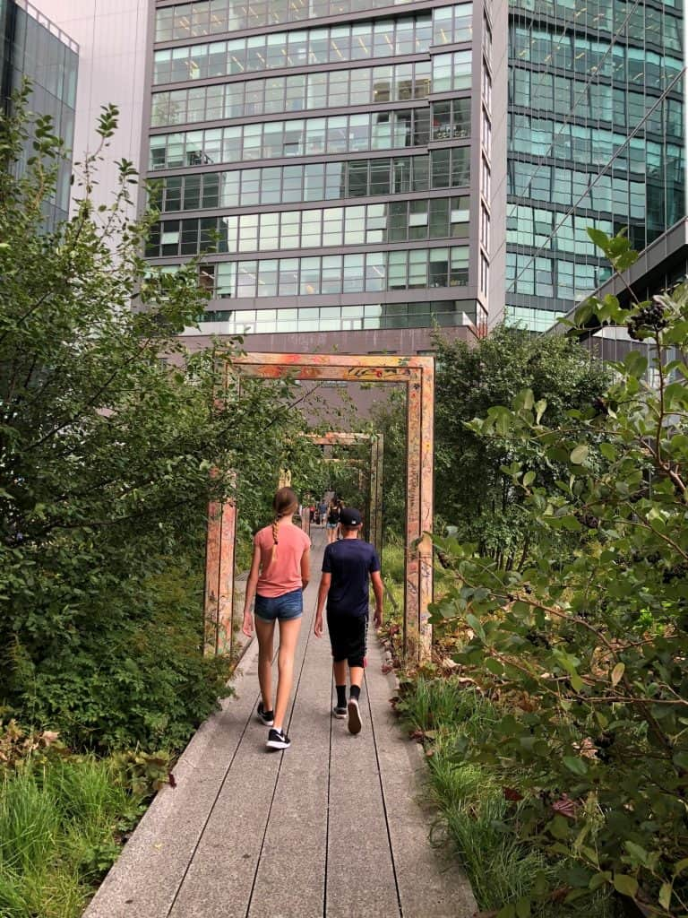Highline NYC with teens