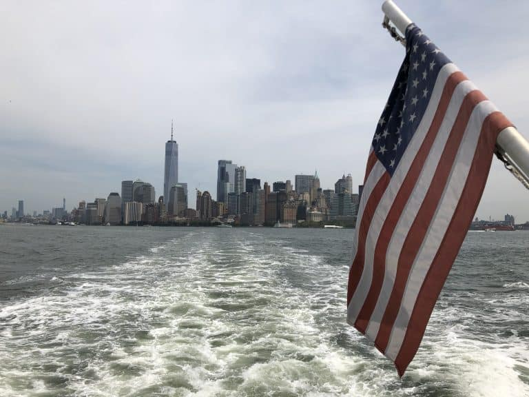 NYC with teens boat ride