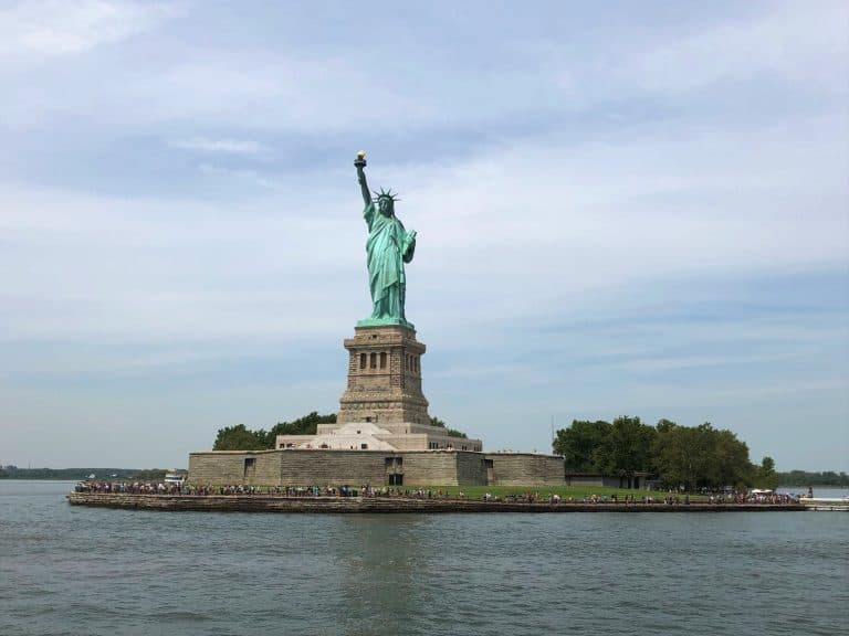 NYC with Teens - the Statue of Liberty