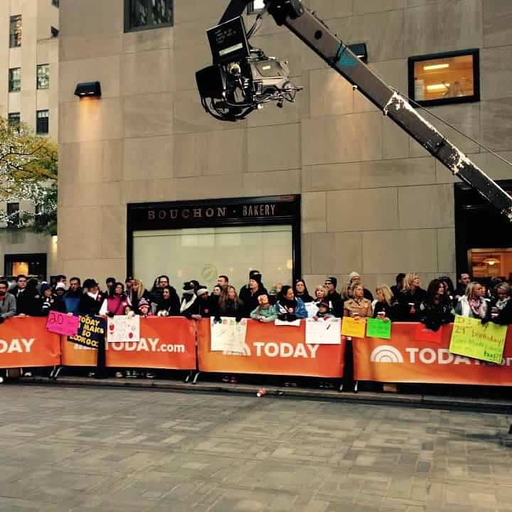NYC with teens - the Today Show