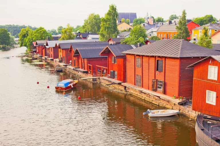 Finland Red Porvoo Storehouses