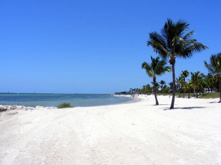 Things to do in Key West include hangin at Smathers Beach