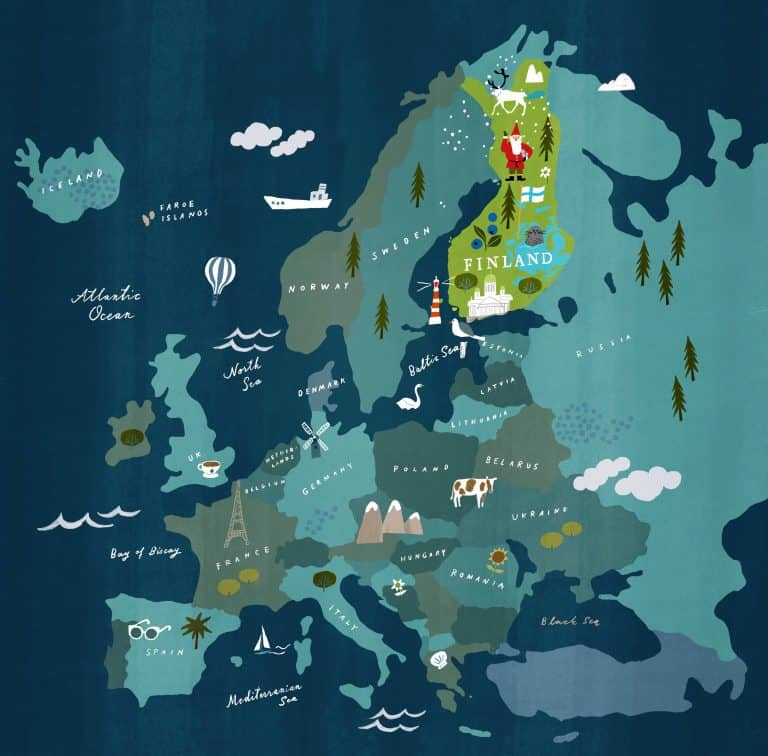 Where is Finland in Europe Map