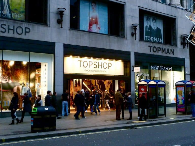 London with teens shop on Oxford Street