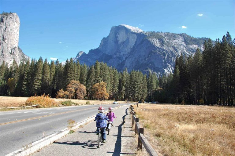 Yosemite Biking in the Fall one of the best time to visit Yosemite