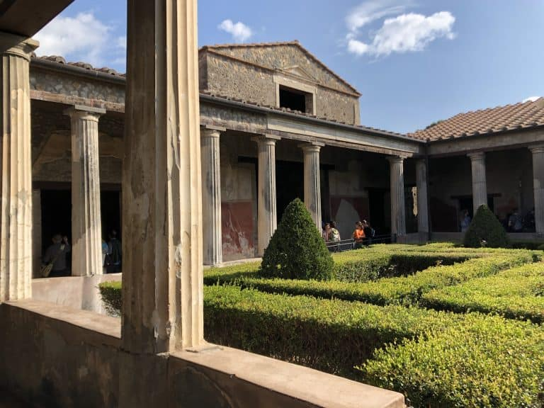 the courtyard of a pompeii domus