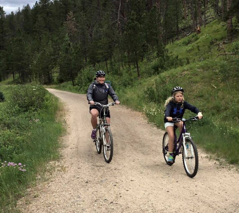 Biking the Mickelson Trail with Black HIlls Adventure Tours
