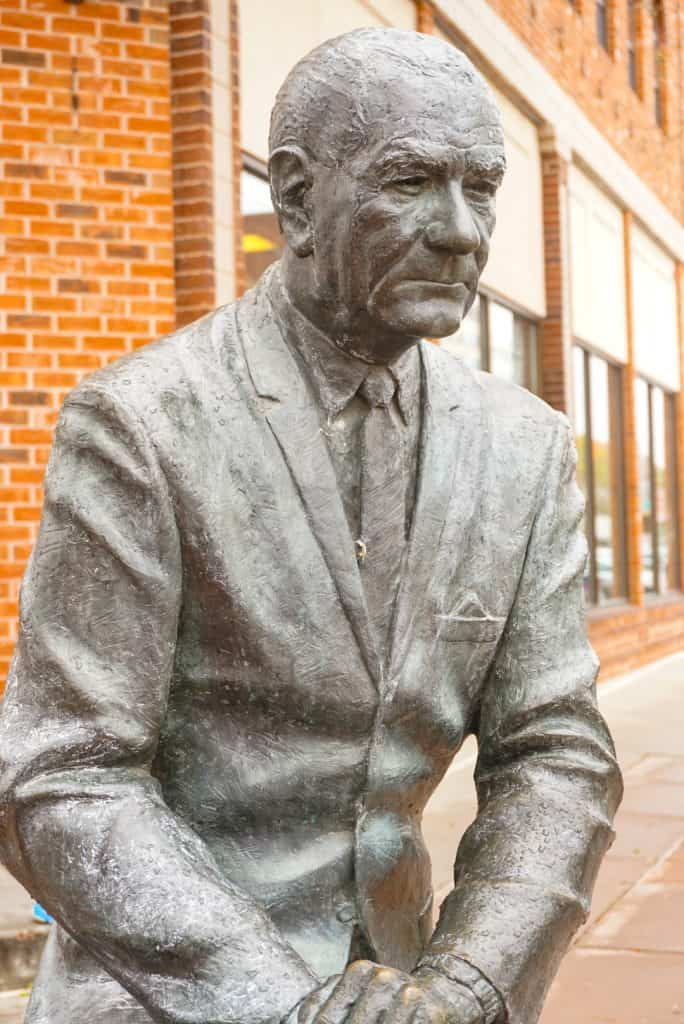 Lyndon Johnson Statue in Rapid City