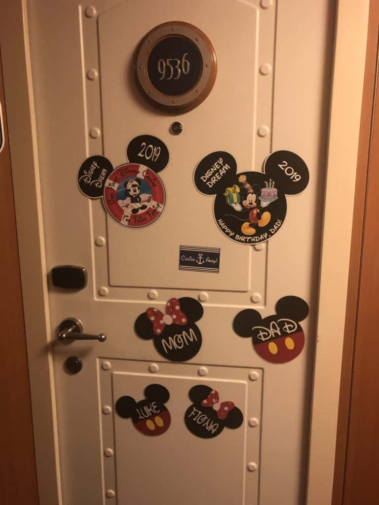 Birthday magnets for Disney Cruises