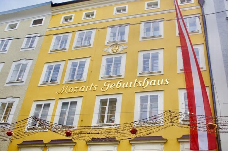 Mozart's birth home in Salzburg, Austria