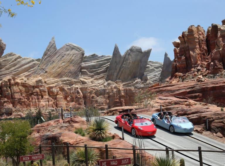Radiator Springs Racers in Disneyland is one of the best rides