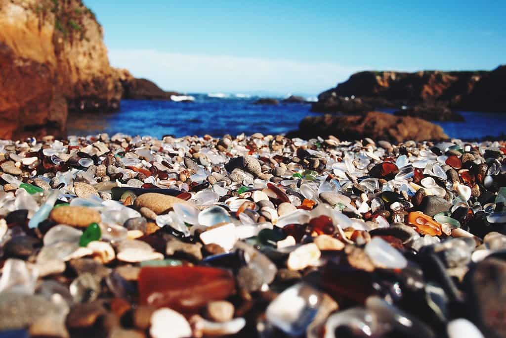 glass beach fort bragg photo