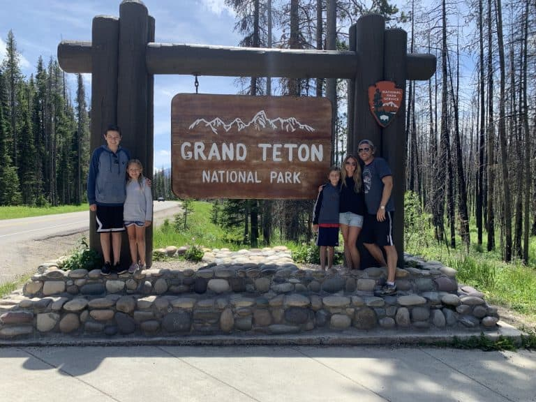Park entrance photo, one of the things to do in Grand Teton National Park