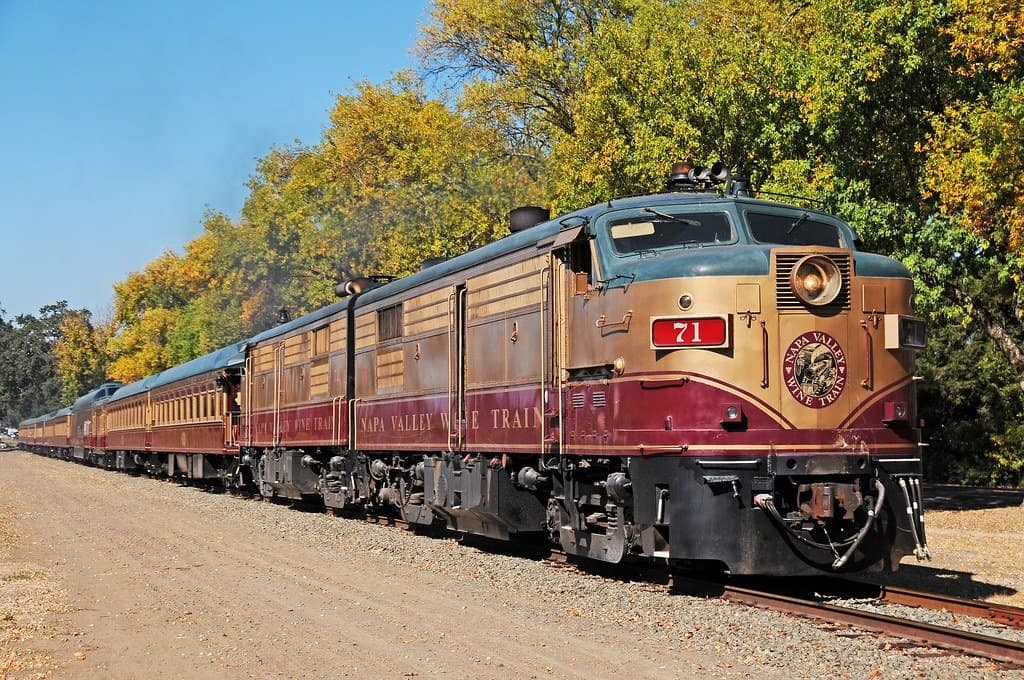 napa Valley Wine Train is a great thing to do on a Northern Calilfornia Family vacation