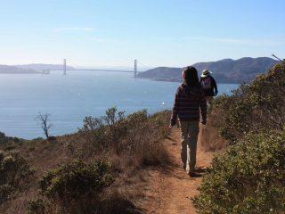 Angel hiking near San Francisco