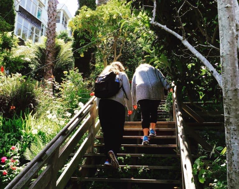 Hiking the Filbert Street Steps