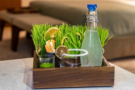 Wheatgrass margarita