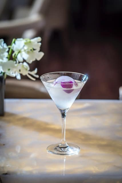 White Cosmo Cocktail