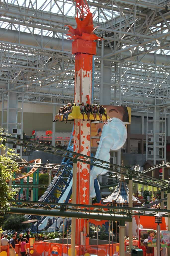 One of the best things to do in Minnesota with kids is visiting Mall of America and Nickelodeon Universe