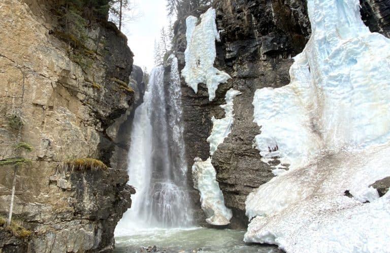 Johnston Canyon water fall near Banff