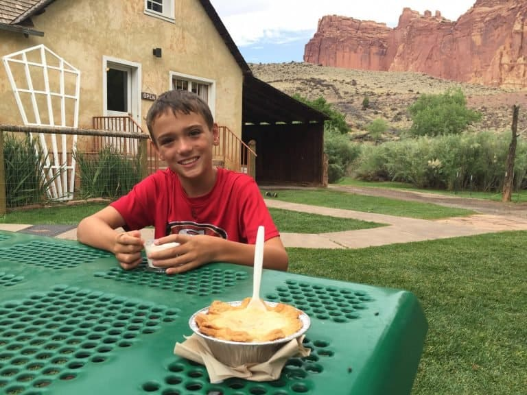Gifford House Pie in Capitol Reef National Park