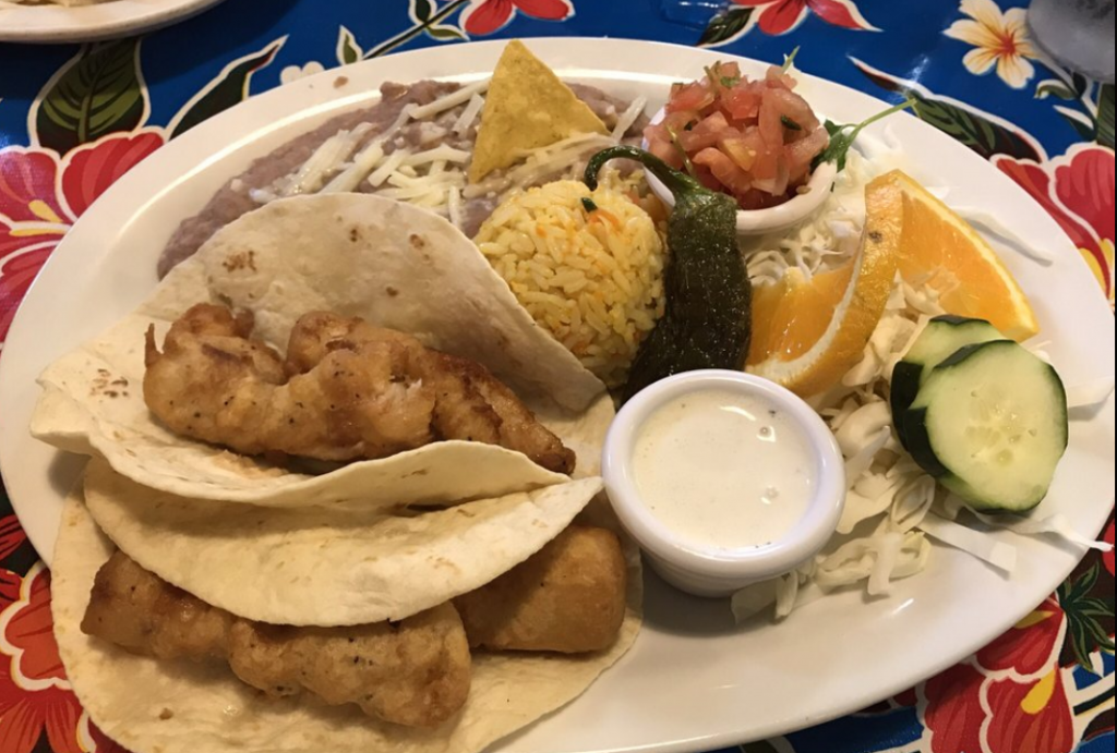 MIguel's Baja Grill fish tacos in Moab