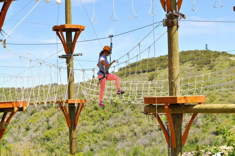 Adventure Course at Utah Olympic Park courtesy of Visit Salt Lake