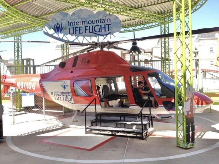 Helicopter at Discovery Gateway Children's Museum in Salt Lake City