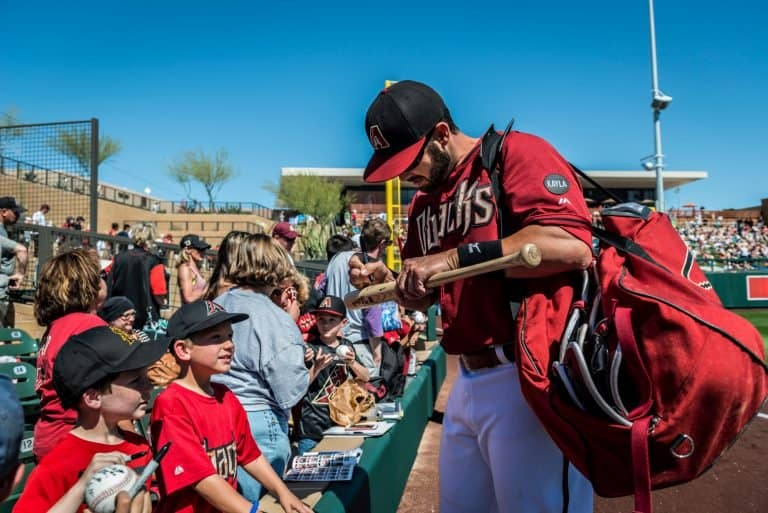 Going to a Spring Training game is one of the best things to do in Scottsdale with kids
