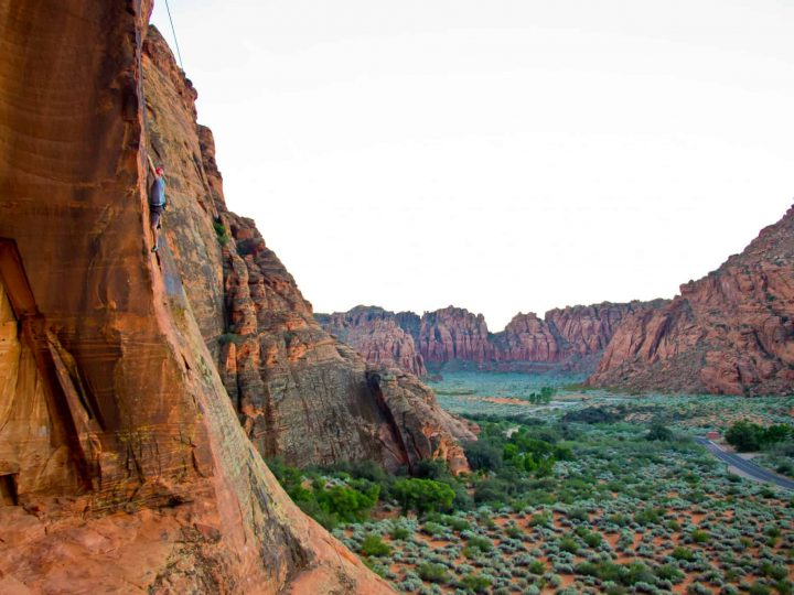 Rock Climber at Snow Canyon State Park Photo Courtesy of Greater Zion Convention & Tourism Office