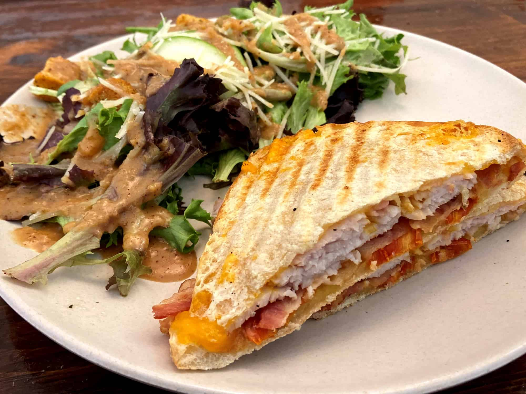 Smoked Turkey Panini at TwentyFive Main