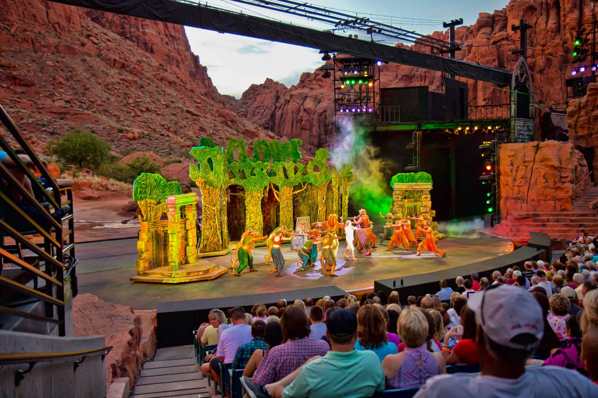 things to do in st george with kids including visiting the Tarzan at Tuacahn Center of the Arts