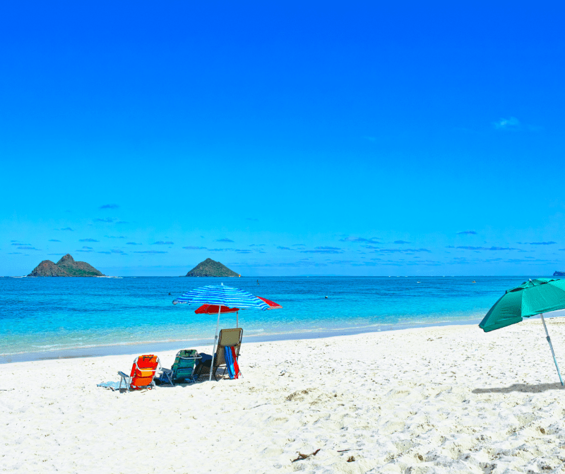 Lanikai beach is one of the best beaches in Oahu for families