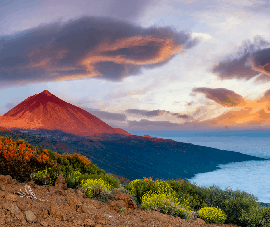 Tenerife is one of the Canary Islands off the coast of Africa but owned by Spain. It is a popular European island getaway.