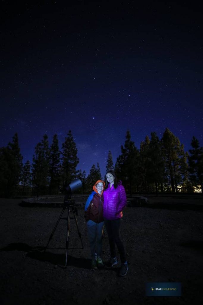 One of the fun things to do in Tenerife at night is go stargazing.