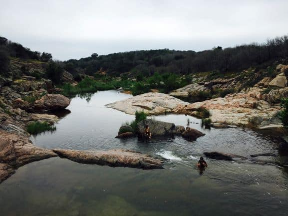 Devils Waterhole at Inks Lake in Texas