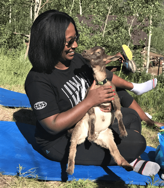 Goat Yoga in Vail