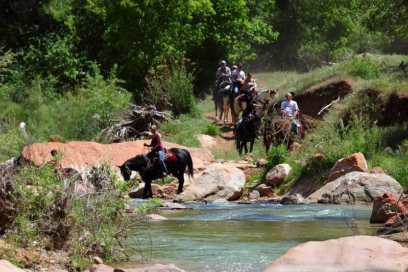 Horseback riding is one of the fun things to do in Zion with kids