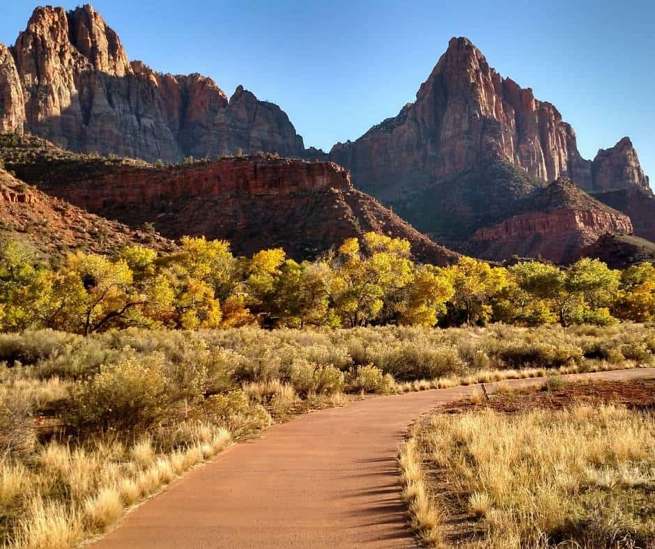 Things to do in Zion with kids include hiking the Pa'rus Trail