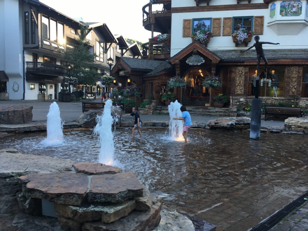 Children's Fountain in Vail Village