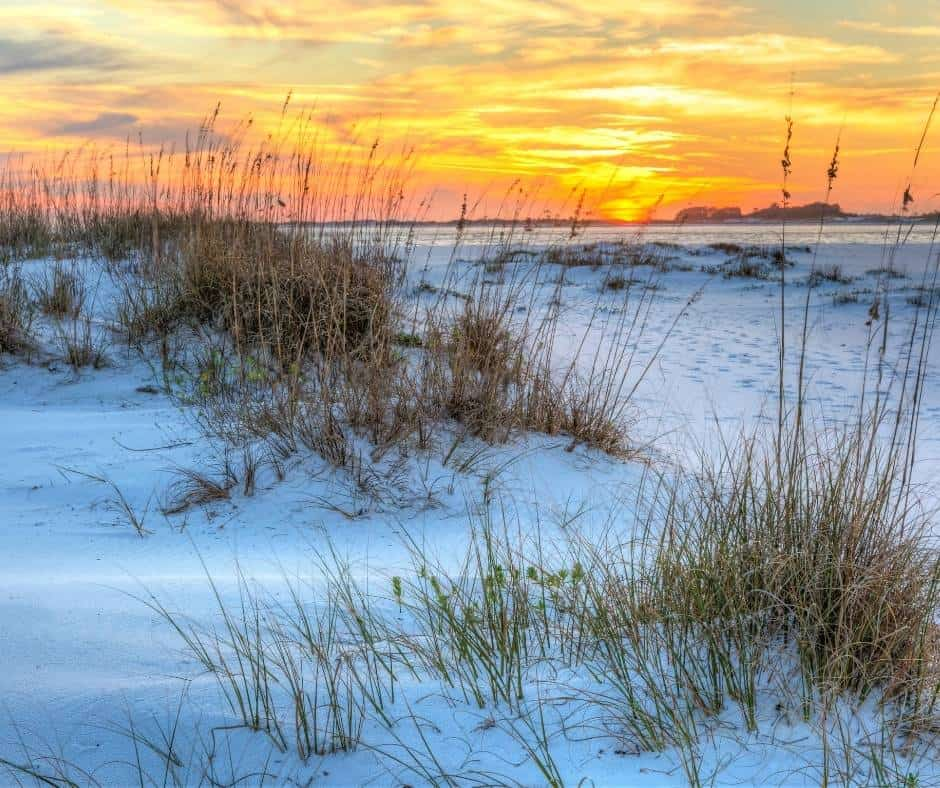 Gulf Coast camping at Fort Pickens