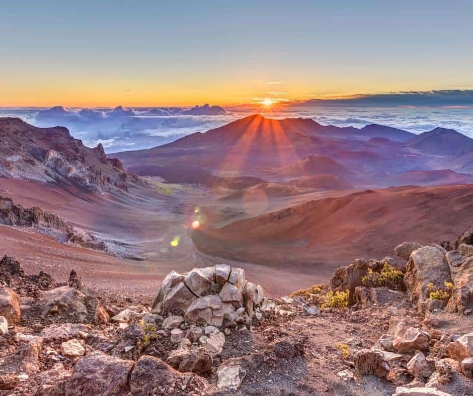 Things to do in Hawaii with kids include enjoying a Haleakala sunrise