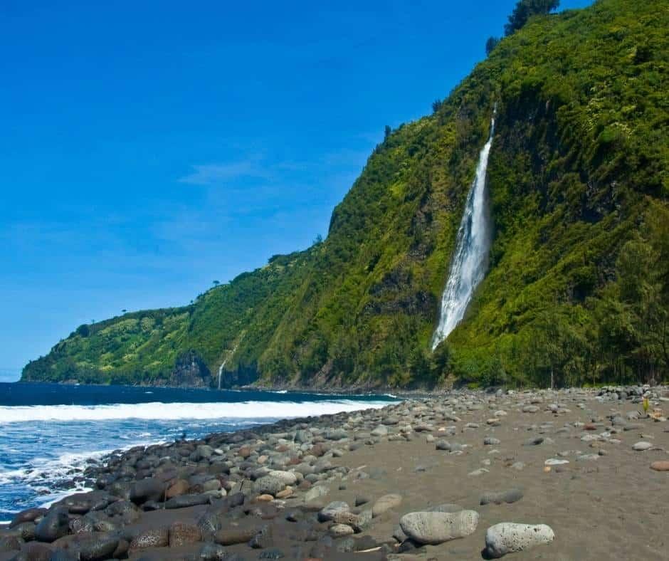 Waterfall in Waipio Valley, Hawaii