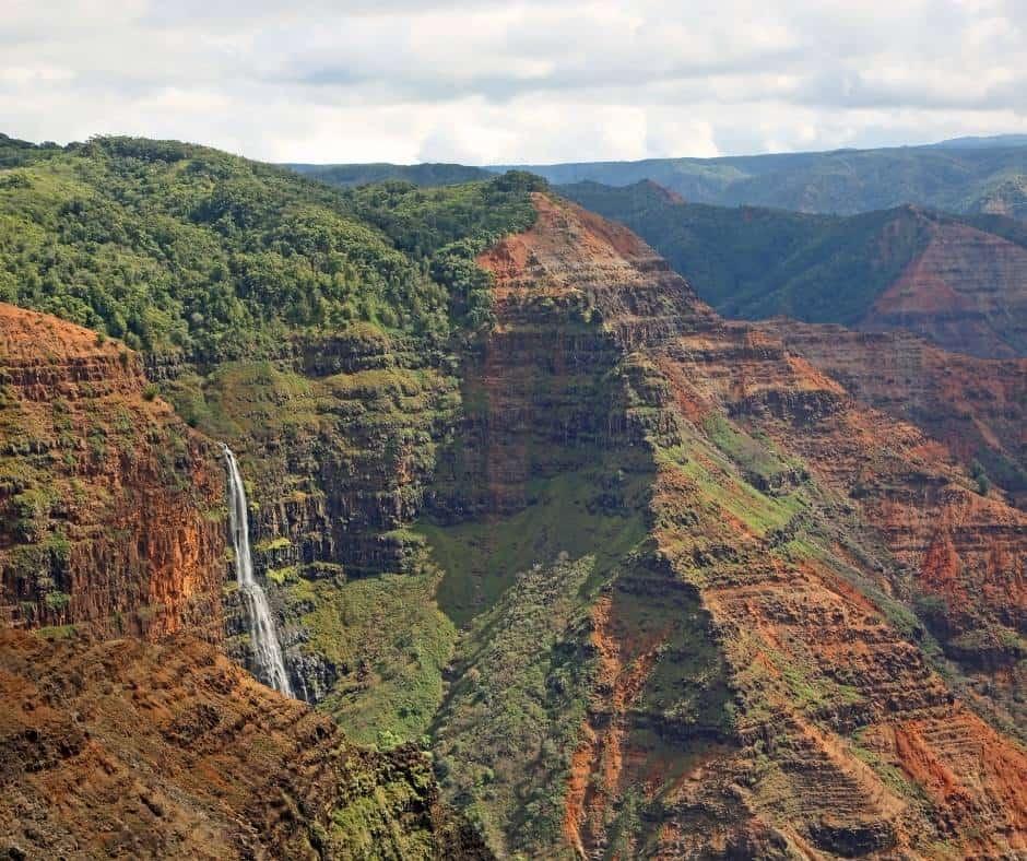 Waipoo Falls in Waimea Canyon